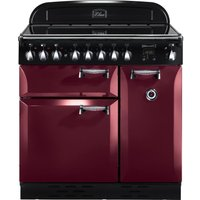 RANGEMASTER  Elan 90 Electric Induction Range Cooker   Cranberry   Chrome  Cranberry