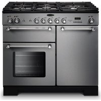 RANGEMASTER  Kitchener 100 Dual Fuel Range Cooker   Stainless Steel   Chrome  Stainless Steel