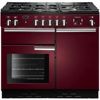 RANGEMASTER  Professional 100 Dual Fuel Range Cooker   Cranberry   Chrome  Cranberry