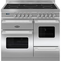 BRITANNIA Delphi 100 XG Electric Induction Range Cooker - Stainless Steel, Stainless Steel
