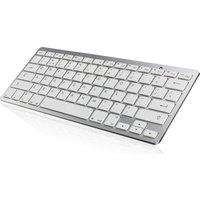 IWANTIT IKBCOMP15 Bluetooth Keyboard - White & Silver, White