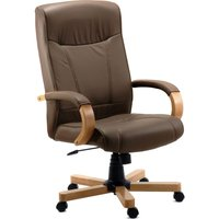 TEKNIK 85 Series 8511HLWBN Bonded-leather Reclining Executive Chair - Richmond Brown, Brown