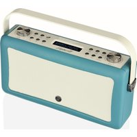 VQ Hepburn Mk II Portable DAB Bluetooth Clock Radio - Teal, Teal
