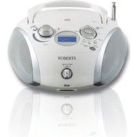 ROBERTS ZoomBox3 Boombox - White, White