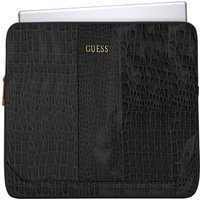 GUESS 13 Laptop Sleeve - Crocodile Black, Black