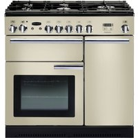 RANGEMASTER  Professional 90 Dual Fuel Range Cooker   Cream   Chrome  Cream