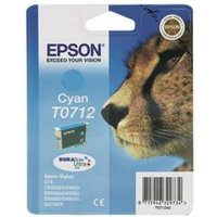 EPSON Cheetah T0712 Cyan Ink Cartridge, Cyan