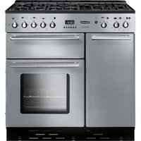 RANGEMASTER  Toledo 90 Dual Fuel Range Cooker   Stainless Steel   Chrome  Stainless Steel