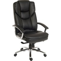 TEKNIK Skyline 9413086 Leather Tilting Executive Chair - Black, Black
