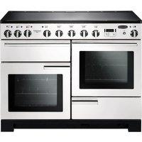 RANGEMASTER Professional Deluxe 110 Induction Range Cooker - White & Chrome, White