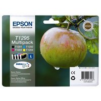 EPSON Apple T1295 Cyan, Magenta, Yellow. & Black Ink Cartridges - Multipack, Cyan