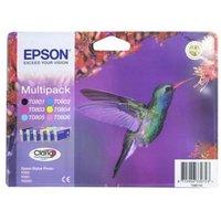 EPSON Hummingbird T0807 6-colour Ink Cartridges - Multipack