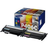 SAMSUNG P406C Cyan, Magenta, Yellow & Black Toner Cartridges - Multipack, Cyan