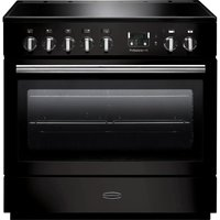 RANGEMASTER  Professional FX 90 Electric Induction Range Cooker   Gloss Black   Chrome  Black