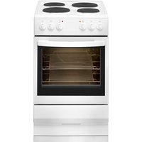 ESSENTIALS CFSEWH17 50 cm Electric Solid Plate Cooker - White, White