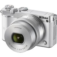 NIKON 1 J5 Compact System Camera with NIKKOR 10-30 mm f/3.5-5.6 VR Zoom Lens - White, White