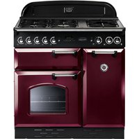 RANGEMASTER  Classic 90 Dual Fuel Range Cooker   Cranberry   Chrome  Cranberry