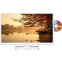 24 LOGIK L24HEDW15 LED TV with Built-in DVD Player - White, White
