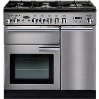 RANGEMASTER  Professional 90 Gas Range Cooker   Stainless Steel   Chrome  Stainless Steel