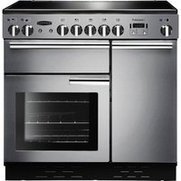 RANGEMASTER  Professional 90 Electric Ceramic Range Cooker   Stainless Steel   Chrome  Stainless Ste