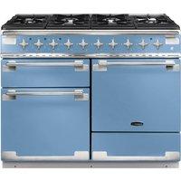 RANGEMASTER Elise 110 Dual Fuel Range Cooker - China Blue & Chrome, Blue