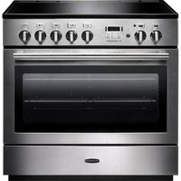 RANGEMASTER  Professional FX 90 Induction Range Cooker   Stainless Steel   Chrome  Stainless Steel
