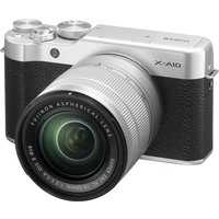 FUJIFILM X-A10 Compact System Camera with 16-50 mm f/3.5-f/5.6 Zoom Lens - Silver, Silver