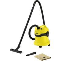 KARCHER MV2 Wet & Dry Cylinder Vacuum Cleaner - Black & Yellow, Black