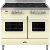 BRITANNIA Delphi 100 Twin Electric Induction Range Cooker - Gloss Cream & Stainless Steel, Stainless Steel