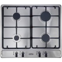 BELLING GHU60GC Gas Hob - Stainless Steel, Stainless Steel