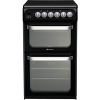 HOTPOINT HUE52KS Electric Ceramic Cooker - Black, Black