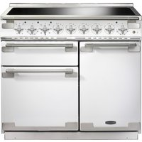 RANGEMASTER  Elise 100 Induction Range Cooker   White   Chrome  White