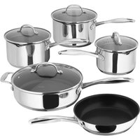 STELLAR 7000 5-piece Draining Lid Set Stainless Steel, Stainless Steel
