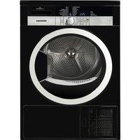 GRUNDIG GTN38250HGCB Heat Pump Tumble Dryer - Black, Black