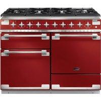 RANGEMASTER Elise 110 Dual Fuel Range Cooker - Cherry Red & Chrome, Red