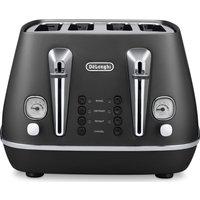DELONGHI Distinta CTI4003.BK 4-Slice Toaster - Black, Black