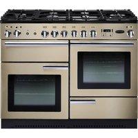 RANGEMASTER Professional 110 Dual Fuel Range Cooker - Cream & Chrome, Cream