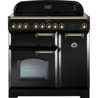 RANGEMASTER  Classic Deluxe 90 Electric Range Cooker   Black   Brass  Black