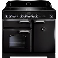 RANGEMASTER  Classic Deluxe 100 Electric Induction Range Cooker   Black   Chrome  Black