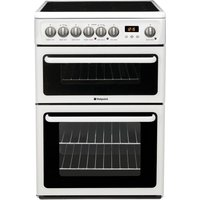 HOTPOINT HAE60PS Electric Ceramic Cooker - White, White