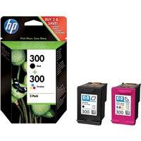 HP 300 Tri-colour & Black Ink Cartridges - Multipack, Black
