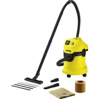 KARCHER MV3 P Wet & Dry Cylinder Vacuum Cleaner - Black & Yellow, Black