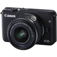 CANON EOS M10 Compact System Camera with 15-45 mm f/3.5-f/6.3 IS STM Wide-angle Zoom Lens - Black, Black