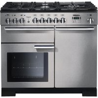 RANGEMASTER  Professional Deluxe 100 Dual Fuel Range Cooker   Stainless Steel   Chrome  Stainless St