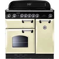RANGEMASTER Classic 90E Electric Induction Range Cooker - Cream, Cream
