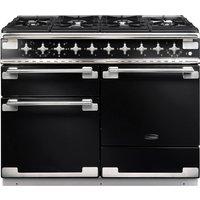 RANGEMASTER Elise 110 Dual Fuel Range Cooker - Black & Chrome, Black