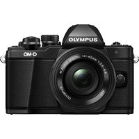 OLYMPUS E-M10 Mark II Compact System Camera with 14-42 mm f/3.5-5.6 EZ Zoom Lens, Black
