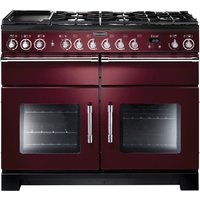 RANGEMASTER Excel 110 Dual Fuel Range Cooker - Cranberry & Chrome, Cranberry