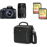 CANON EOS 1300D DSLR Camera, Twin Lenses & Accessories Bundle
