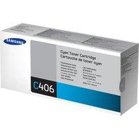 SAMSUNG CLT-C406S Cyan Toner Cartridge, Cyan